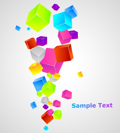 Color cubes template Stock Vector - 15170411