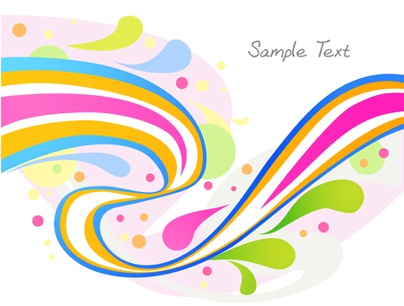 rainbow colors background Vector