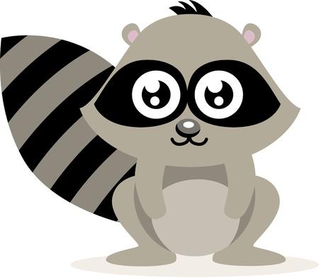 Cute Raccoon  Stock Vector - 15170602