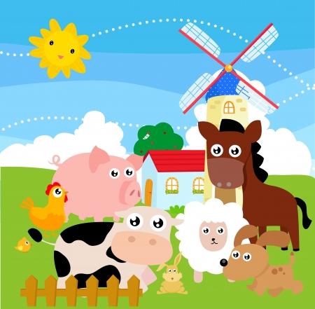 farmyard: farm animal