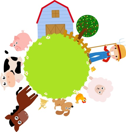 farm frame  Vector