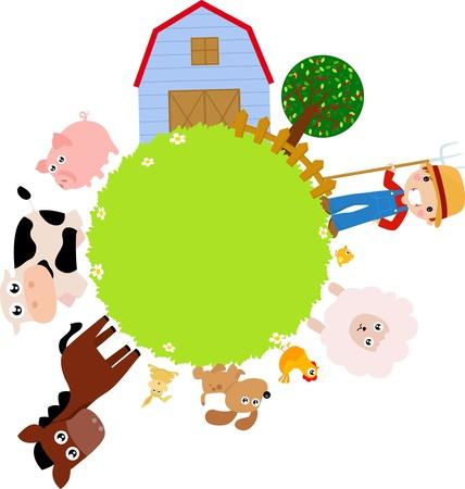 farm frame Stock Vector - 15168985