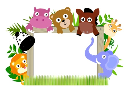 animal and banner Vector