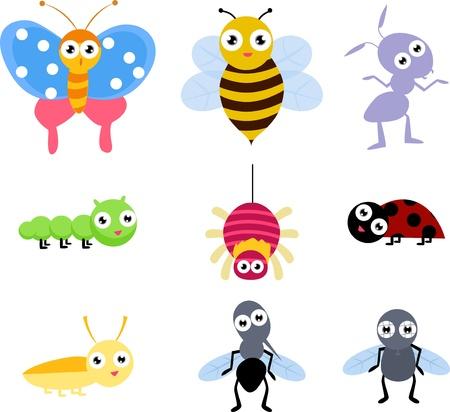 mosca caricatura: insecto Vectores