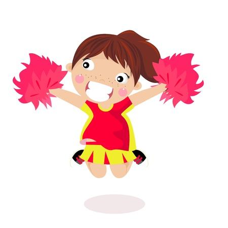cheer leading: Girl Cheerleader - Vector