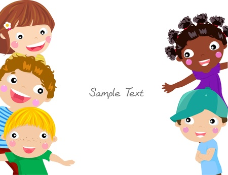 Cute cartoon kids frame Stock Vector - 15301257
