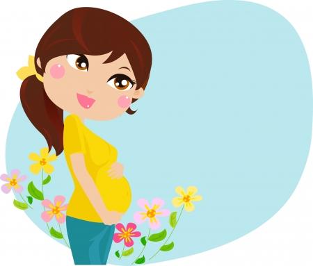 Pregnant woman Stock Vector - 15107888