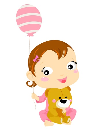 baby girl Stock Vector - 15107891