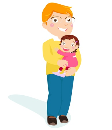 father and daughter Stock Vector - 15168229