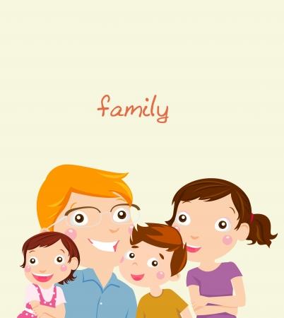 happy family at home: Family Illustration