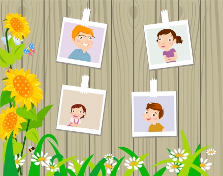 Family photos Vector