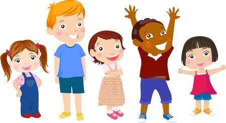 animated boy: five kids