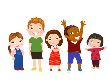 five people: five kids