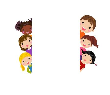 cartoon frame: bambini Vettoriali