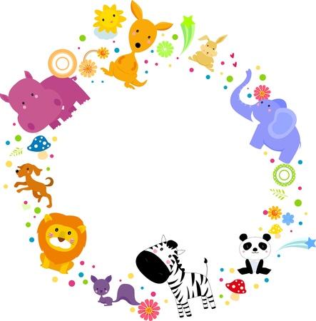 flusspferd: Tiere Illustration
