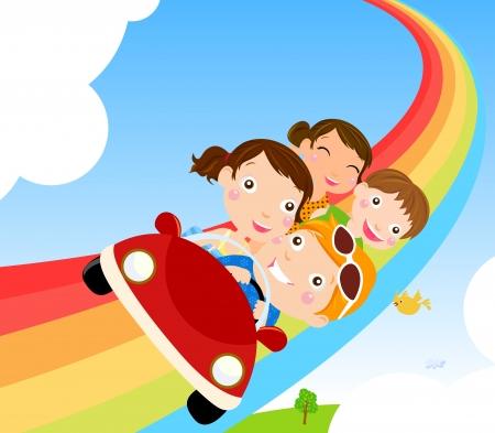 travel family: Familia Vectores