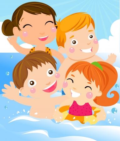 summer vacation  向量圖像