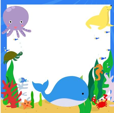 Zeedieren Vector Illustratie