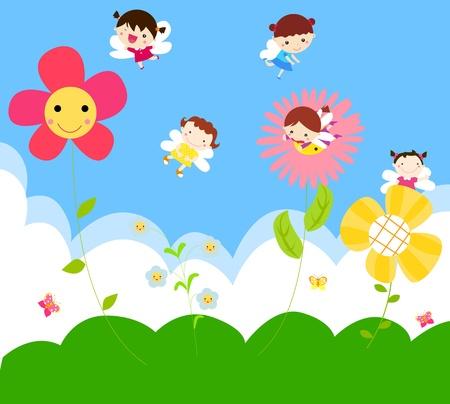 fairy: Cute little fairies Illustration