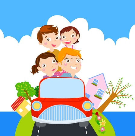 cars on road: Family time for Vacation