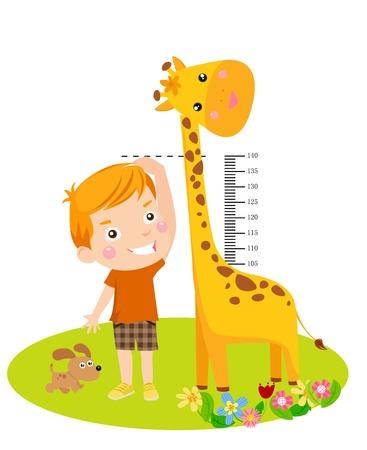 jirafa: Muchacho lindo y la jirafa