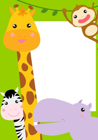 illustration zoo: animal frame  Illustration