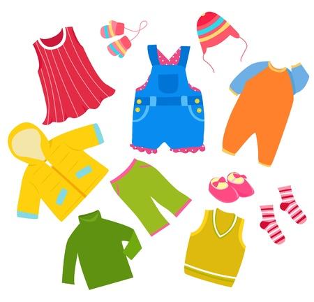 Kid clothes frame Vector