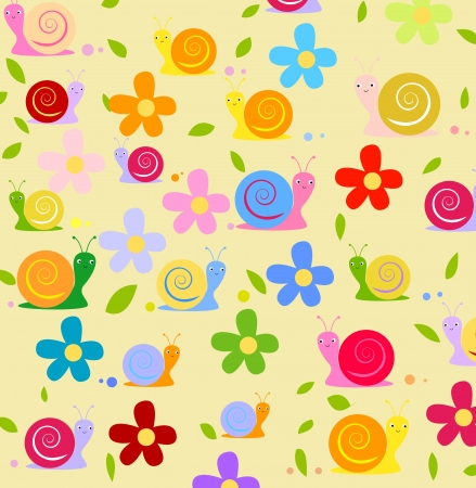 mal: Snail and flower