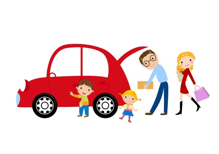 carro supermercado: Familia Vectores