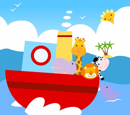 animal ship  Vector