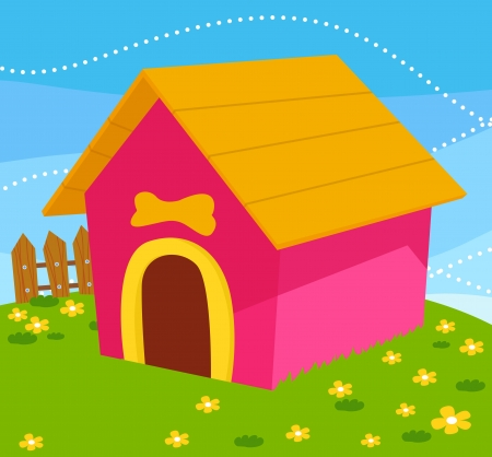 dilapidated: Cute dog house