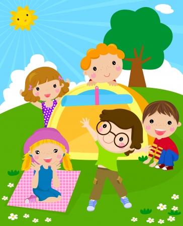 rekolekcje: dzieci i namiot