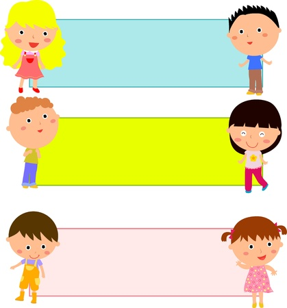 children school clip art: kids and frame