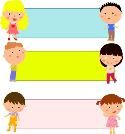 Los niños y el marco Foto de archivo - 15741921