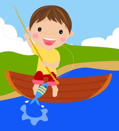 fishing pole: Fishing  Illustration