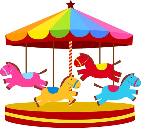 animal themes: carousel  Illustration