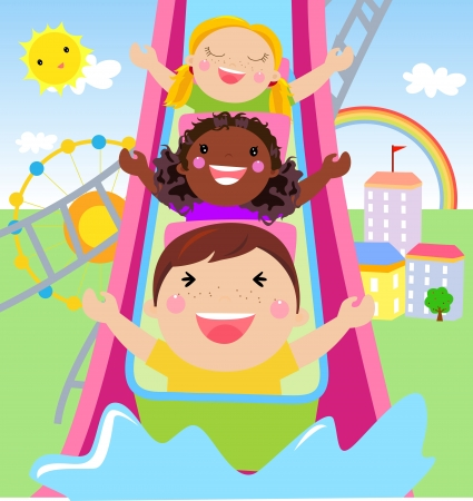 carnival ride: play time  Illustration