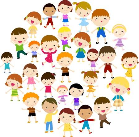 Happy children Vettoriali