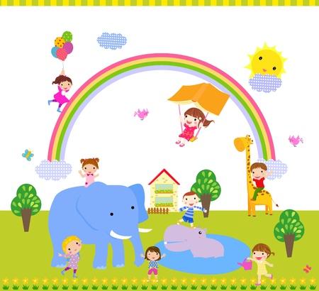 oyun zamanı: çocuklar Çizim