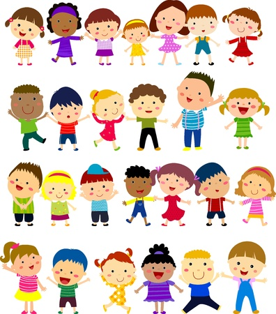 world group: Happy children Illustration