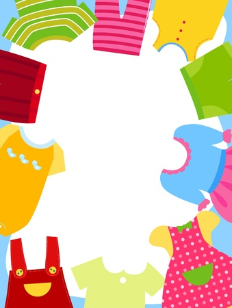 Kids Clothes Frame Royalty Free Cliparts, Vectors, And Stock ...