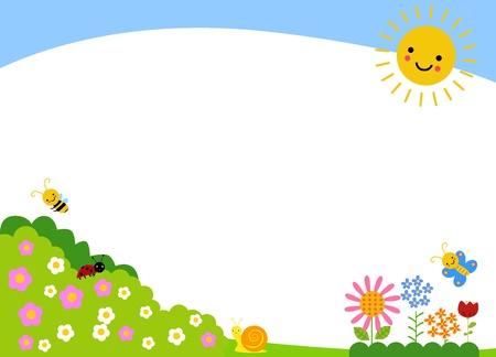 Cute spring background Illustration