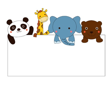 baby animals: animal and banner