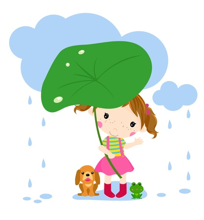 Little girl Stock Vector - 18788649