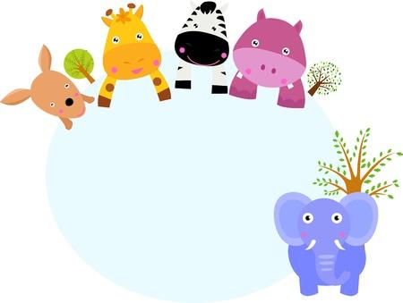 panda cub: animales y la bandera Vectores