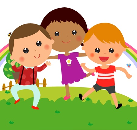 Three children Vector