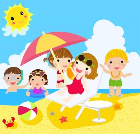 eltern und kind: Menschen am Strand