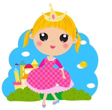 pink dress: Princess