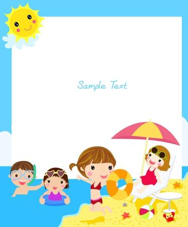 zomer: kinderen op het strand