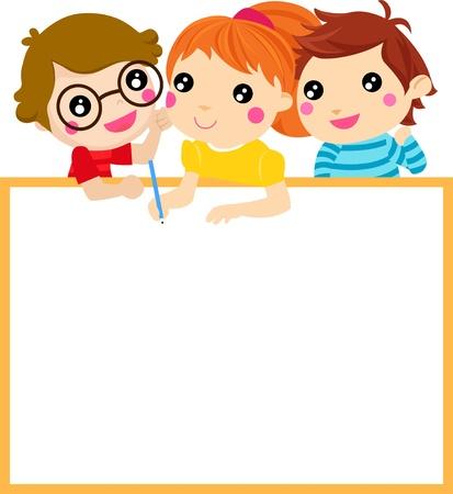 Des enfants heureux Banque d'images - 21597296